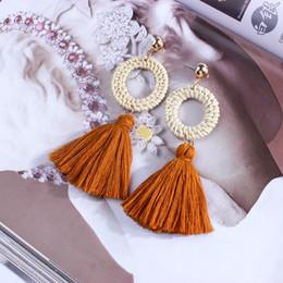 Canada Bijoux élégants boucles d'oreilles à la main des femmes Bohème ethnique gland pendentif pendentif Long boucles d'oreilles supplier elegant handmade jewelry Offre