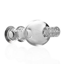 2019 migliori bongi d'acqua Best Cyclone Riptide Carb Cap Vetro Bubble OD 26mm Clear Caps per Terp Pearl Quartz Banger Chiodi bong acqua migliori bongi d'acqua economici