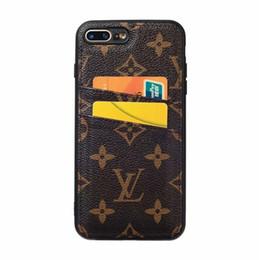 2019 funda de cuero para tarjeta tpu Funda protectora de cuero de alta calidad con diseño de PU para iPhone X XS Max XR 8 7 7 plus Galaxy S10 S9 Plus Note8 9 Cubierta de tarjeta rebajas funda de cuero para tarjeta tpu