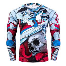 2019 legal impresso camisetas 3D Impressão Herói Mens Longo TShirts Aptidão Colorido Magro Legal Mens Tops Moda Primavera Mens Tees legal impresso camisetas barato