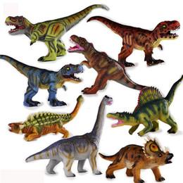 Jurassic weichen Dinosaurier Modell Spielzeug Simulation Plastikdinosaurier Spielzeug Tyrannosaurus Dornen Drachen Kind Geschenk Weihnachtsgeschenk von Fabrikanten