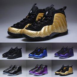 a6286156021 Penny Hardaway Kids Basketball Shoes For Boy Girl Designer Yellow Purple  Black White Infant Children Uptempo Babys Sports Sneaker Size 28-35