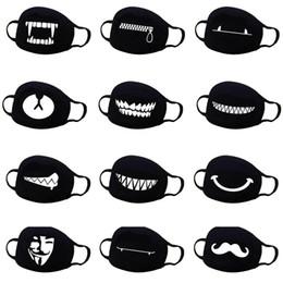 Mascarilla bucal contaminacion online-Unisex Anime Face Mouth Mask 13 Estilo Camuflaje Boca-mufla Respirador Detener la contaminación del aire Dibujos animados encantadora Máscara de algodón TTA 77