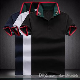 2019 stilvolle männer t-shirts 2019 marke mode luxus designer fashion classic man bee t shirts baumwolle herren designer t shirts weiß schwarz designer polo shirts männer m-4xl