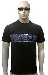 Foto a colori viola online-T-Shirt RARA Deep Purple Official Tour 2008 BAND PHOTO ROW all'ingrosso T-Shirt da concerto g.m
