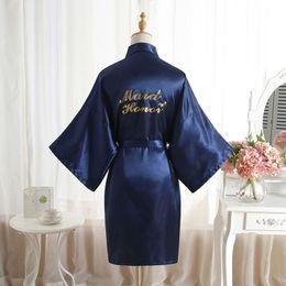 ba16ed0b4c High Quality Loose Robes Women Faux Silk Sleepwear With Belt Bathrobe  Letter Print Night Shirts Cardigan Negligees
