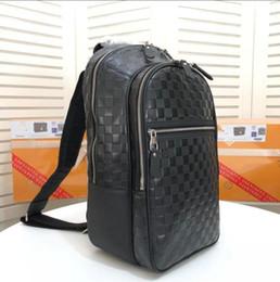 Sacchetti di laptop esterni online-N58024 Borsa da uomo di lusso Michael Zaino Damier Graphite Canvas Outdoor Travel Zaino Borse per notebook, 6 * 45 * 17 CM