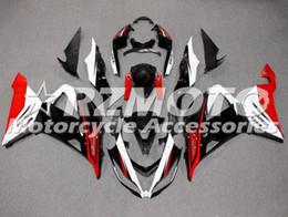 kit carenado yamaha r1 morado Rebajas 3 regalos nuevo molde de inyección ABS carenados de la motocicleta kit para Kawasaki Ninja ZX6R 636 599 2013 2014 2015 2016 2017 Carrocería establece Negro Rojo