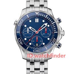 Relojes de buceo de alta calidad online-Caliente parte superior de ventas de lujo Relojes para hombre VK cronógrafo de cuarzo de los hombres Relojes de diseño 300M de buceo reloj de pulsera hebilla desplegable de alta calidad