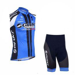 2019 riesige fahrradhemden Radtrikot 2019 GIANT Team Racing Fahrradbekleidung Atmungsaktiv Maillot Ropa Ciclismo ärmelloses Shirt Fahrrad Shorts Set Sportswear günstig riesige fahrradhemden