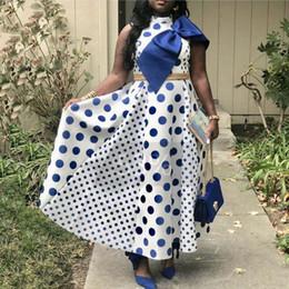vestido estampado africano Desconto 2019 Vestidos Africanos Mulheres Impressão Digital Moda Curto-Manga Dashiki Plus Imprimir ponto de arco patchwork grande vestido