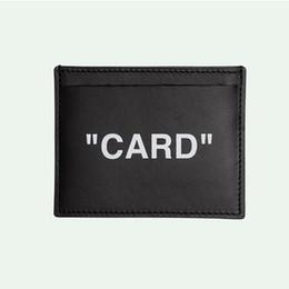 19ss Portafogli Porta carte in cuoio nero bianco da