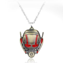 2019 logotipos de filmes Mova o logotipo dos homens da formiga série colar de pingente de prata vermelha super-herói dos homens formiga colar de pingente de requintado direto logotipos de filmes barato