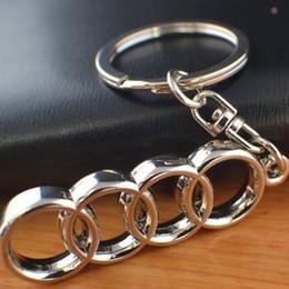 3D Anel Chave Do Logotipo Do Carro Mental Chaveiro Acessórios Do Carro-styling para Audi Keychain Automóvel Keyfob Pingente De Metal Titular Chave de Fornecedores de cadeia de audi