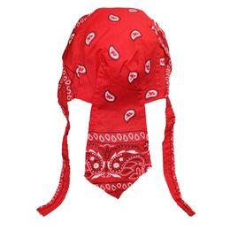 Chapeau de pirate rouge en Ligne-Amoeba Bandanna Pirate Skull Caps Matériel de Coton Équitation Extérieur Motion Chapeaux Homme Accessoires De Mode Noir Rouge Vente Chaude 3ybE1