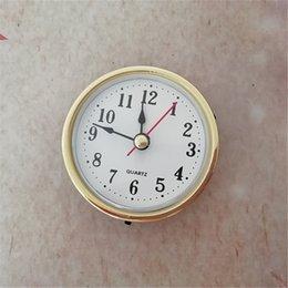 Inserções de relógio de quartzo on-line-Atacado NOVA 5 PCS de Diâmetro De 65 MM de Ouro Aro Fit-Up de Quartzo Inserção Relógio DIY Bateria Relógio Acessórios de Substituição