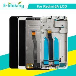 Pantalla de visualización xiaomi online-Para XIAOMI Redmi 6 6A Pantalla LCD Asamblea táctil del digitalizador con marco para reemplazo original Redmi 6A