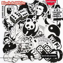 Nevera de vinilo online-101 Unids Etiqueta Blanco y Negro Snowboard Car Styling Sleigh Box Equipaje Nevera de Juguete de Vinilo Calcomanía decoración para el hogar DIY Pegatinas Frescas
