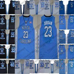 Carolina negra on-line-NCAA Carolina do Norte Tar Heels # 23 Michael 5 Nassir Little 15 Vince Carter 32 Luke Maye Berry Barnes UNC azul Preto Branco Jerseys