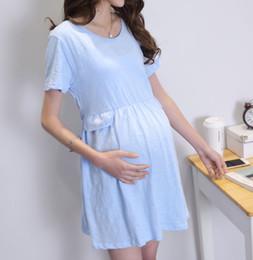 anti-strahlung kleidung schwangere frauen Rabatt Schwangere Damenhemden aus Sommermodellen Radiation Umstandsmode lässig lange Absätze, einfarbige runde Hälse, kurze Ärmel