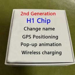 2019 sunglass musik kopfhörer Neueste Hoch Air H1 Chip Umbenannt Headset 2. Generation Wireless-Charging Bluetooth-Kopfhörer GPS Ortung und Galaxy Buds Kopfhörer