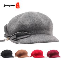 Повседневная корейская шапка онлайн-Autumn And Winter Wool Adjustable Hat Korean Version Of The Ladies Beret Pearl Bow Wild Casual Cap Octagonal Hat ooyoo