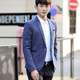Куртки пальто платье корейский онлайн-New Arrival Fashion  Blazer Jacket Men Single Button Slim Fit Suit Coat Korean Dress Jacket Party Casual Men Clothing