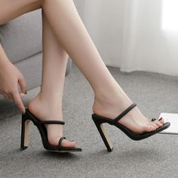 2019 pantofole semplici Perimedes Sexy festa di nozze schiaffi scarpe da donna Estate semplice classico sottile scarpe con tacchi alti scarpe per donna chaussures femme sconti pantofole semplici