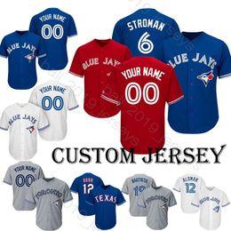c5bbe2fa5b0 custom baseball shirts 2019 - Blue Jays jersey 6 Marcus Stroman jersey  Baseball Custom jersey 31