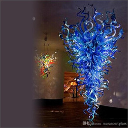 Zhongshan Fcatory Blown Murano Glass Chandeliers Hand Blown Glass Chandelier For Hotel Home For Table Top Decoration Cheap Pendant Lighting Drum