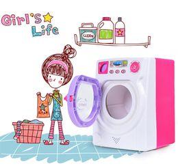 Argentina Juegue a la casa juguete bebé niños simulación sonido electrónico luz lavadora juguete Amor limpio Lave la ropa niño niña regalo juguete Suministro