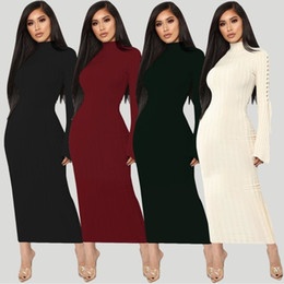 f5e9a310e Sexy bodycon party mujeres vestido de invierno bandge hollow out manga  larga casual slim vestido maxi oficina señora vestidos robe femme bata maxi  delgado ...
