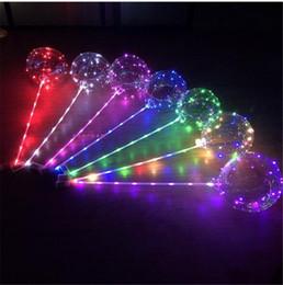 2019 zentai transparente El globo luminoso de la bola de BoBo del LED 3M enciende los globos transparentes de la onda de la secuencia con el globo de 80cm poste para las decoraciones del banquete de boda de Navidad rebajas zentai transparente