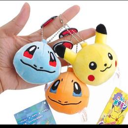 Portachiavi in peluche online-Key Chain peluche Pokemon Pikachu Keychain pelliccia portachiavi Elfi palla Portachiavi Johnny peluche bambole Turtle lol