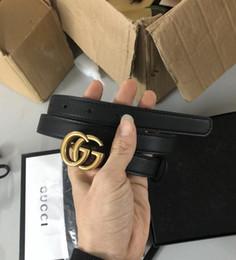 2019 handytasche schutz bester Preis des Großhandelspreises hoher Qualität Markendesigner berühmter Mode 2CM Taillengürtel mit Kasten echtem Leder für Frauen
