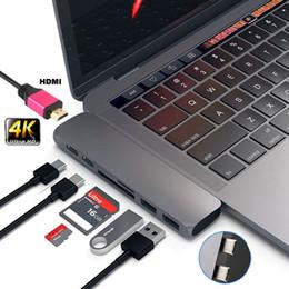 порты linux Скидка Type-C Адаптер концентратора USB-C Dual USB 3.0 Polt с HDMI Для MacBook Pro Для ПК Ноутбук ПК Ноутбук Ноутбук WH Компьютер Mac