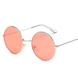 2019 óculos de sol de lente multicolor para homens 2017 Nova Mulheres Homens Round Sunglasses Steampunk Shades multicolor Gradient Lens Espelho Óculos de Designer Vintage Sun Glasses óculos de sol de lente multicolor para homens barato