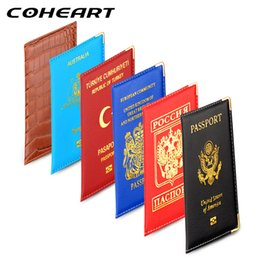 Кожаные сумки для мужчин цена онлайн-COHEART  Passport Cover for most countries Artificial leather Passport Wallet Men Women Bag Thin Wholesale Price !