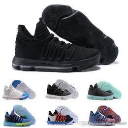 sneakers for cheap 6fe61 94072 Freies verschiffen 2019 Neue Zoom KD 10 Jahrestag PE BHM Oreo dreifach  schwarz Männer Basketball Schuhe KD 10 Durant Athletic Sport Turnschuhe