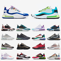 2020 chaussures ville de sport Nike Air Max 270 React Airmax Safari Hommes Chaussures De Course Parachute 270s Camo Oracle Aqua Bauhaus Metallic God Hommes Femmes Baskets De Plein Air Baskets De Sport chaussures ville de sport pas cher