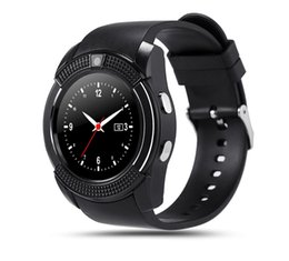 v8 sport smartwatch Promo Codes - V8 Bluetooth sport SIM Card Watches Android with 0.3M Camera MTK6261D DZ09 GT08 Smartwatch for apple android phone with Retail Package