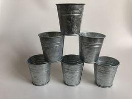 D7 * H7CM Commercio All'ingrosso Libero Puro scatola di latta di nozze Succulente Fioriere zinco vasi da fiori fioriere Piccolo vivaio da