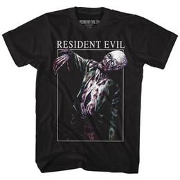 camisas engraçadas baratas Desconto Barato Camisetas Engraçadas Resident Evil Skeleton Tripulação Pescoço de Manga Curta Mens T Shirt