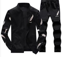 vestes de conception en plumes Promotion Mens Baseball Jacket Pants Survêtements Sports Adolescent Vêtements Ensembles Fashion Plume Conception Costumes Imprimés