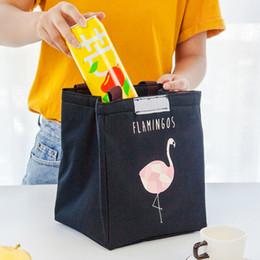 caja del enfriador de viaje Rebajas Flamingo Thermal Bag Impermeable Oxford Beach Lunch Box Bolsa de viaje de alimentos 4 estilos Bolsos de almacenamiento de animales de dibujos animados Picnic Pouch BH1770 ZX