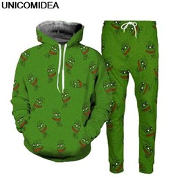 4ae48f8be20c59 2019 frosch hoodie 3D Pepe Frog Hoodies Anzüge Männer Hoodies Sweatshirt  Joggers Hosen Animal Print Männer