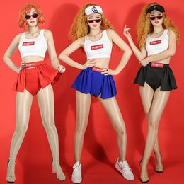 2019 dance traje jazz hip hop sexy Palco traje cantor hip hop sexy colete calções de jazz cheerleading trajes de dança mulheres dj pole dance clothing rave outfit dn3119 dance traje jazz hip hop sexy barato