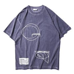 chemises logos d'impression Promotion 2019ss Meilleure Qualité Bretagne Mode A-COLD-WALL ACW Logo Géométrie Imprimé Femmes Hommes T-shirts T-shirts Hiphop Hommes Coton T-shirt