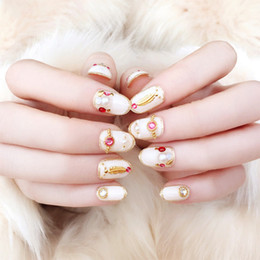 Canada 24pcs femmes été plage mode faux ongles mariée mariage Simulation perle beauté faux ongles bricolage ongles paillettes art autocollants supplier nails bridal Offre