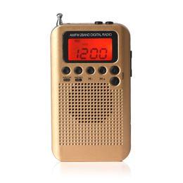 2019 lettore mp3 al litio I produttori forniscono altoparlanti esterni portatili mini AM FM radio a due bande Rapporto segnale / rumore 40 (dB) tensione nominale 3 (V) Potenza nominale 200m